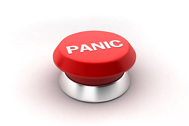 Panic button stock photo