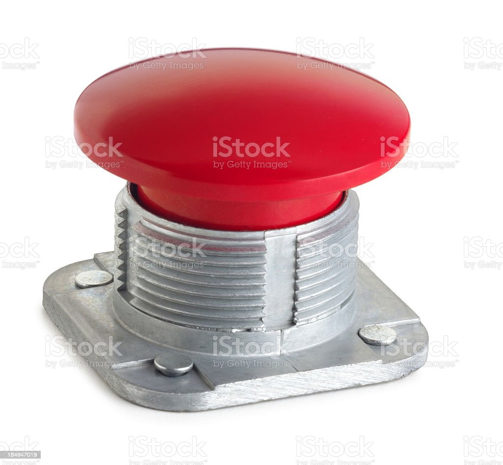 Panic Button royalty-free stock photo