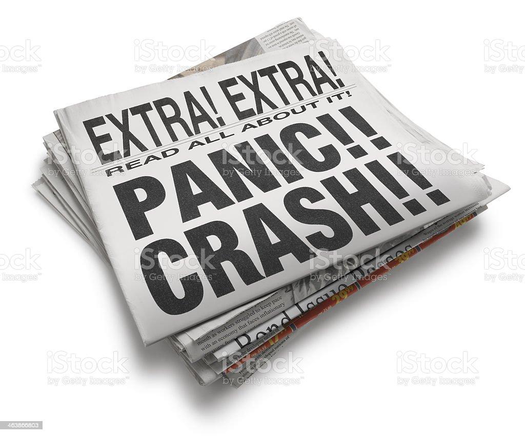 Panic!! Crash!! royalty-free stock photo