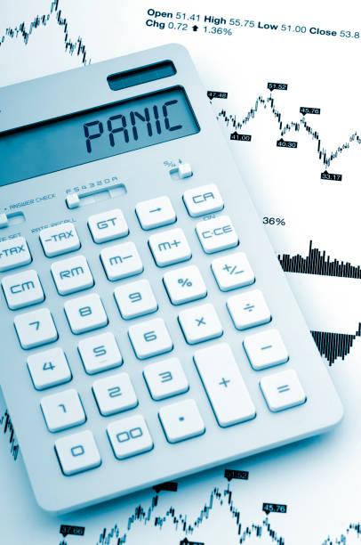 Panic economy stock photo