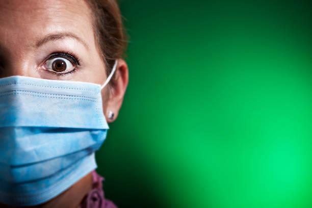 Panic infection stock photo