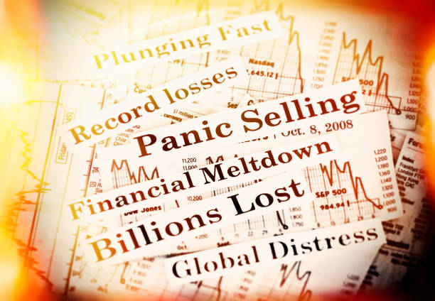 Panic Selling Panic selling and billions lost. bailout stock pictures, royalty-free photos & images