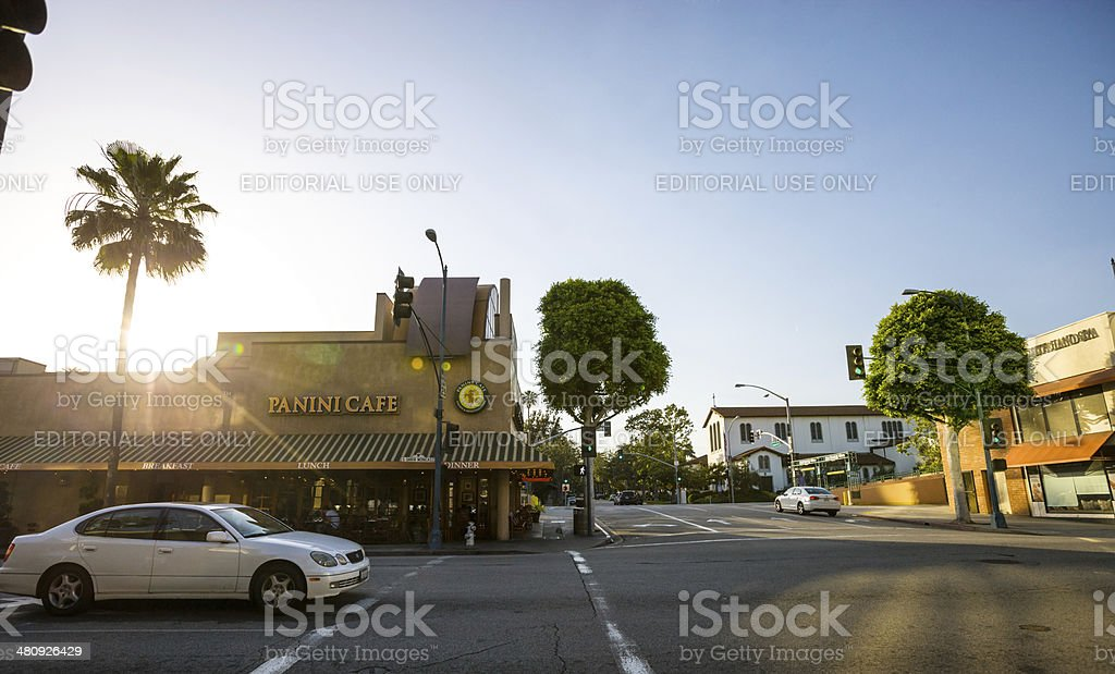 Panini Cafe in Beverly Hills, Los Angeles, USA stock photo