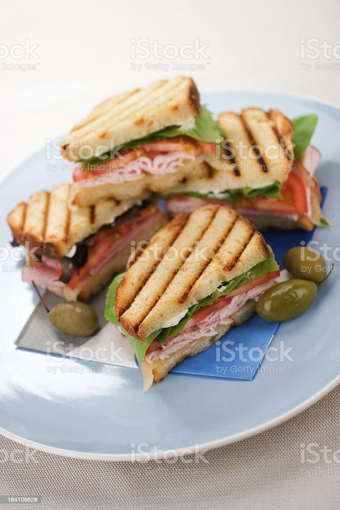 Panini Platter royalty-free stock photo
