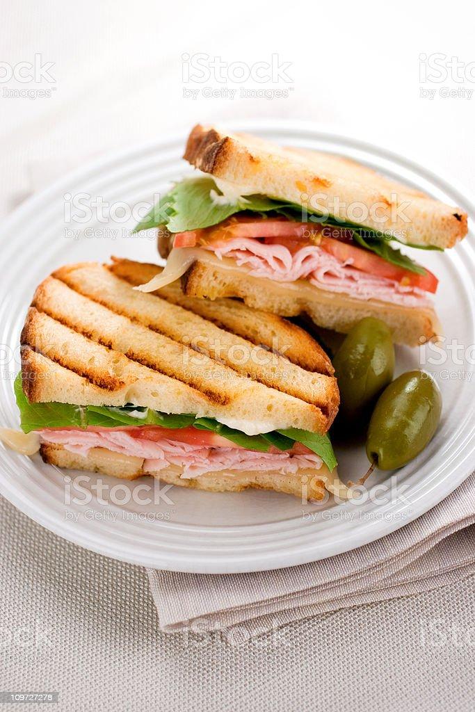 Panini Sandwiches royalty-free stock photo