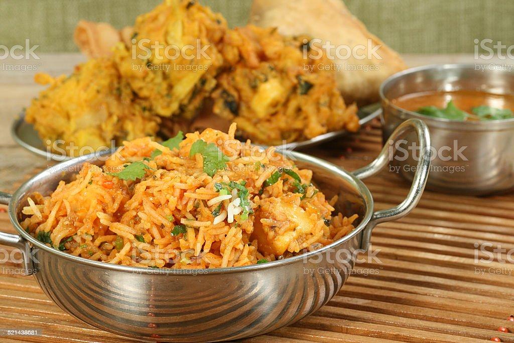 panir biryani indian food dish of panir biryani Asia Stock Photo