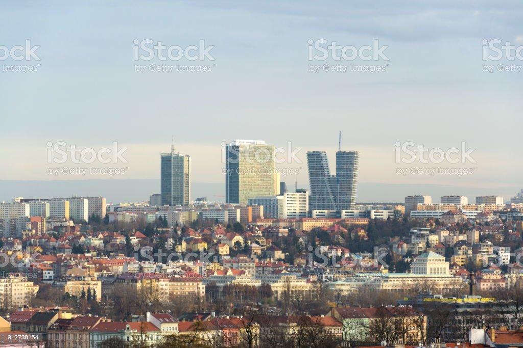 Pankrac Bezirk mit Prag höchsten Gebäude von Mrazovka, Tschechische Republik – Foto