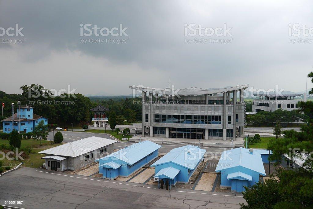 Panmunjom - border between South and North Korea stock photo