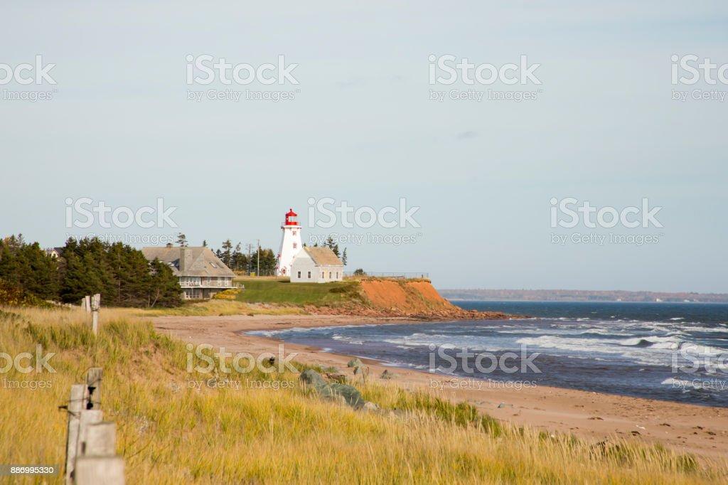 Panmure Island Lighthouse, PEI stock photo