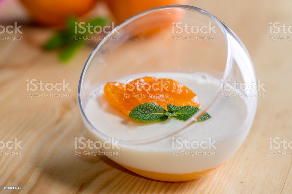 Panna cotta stock photo