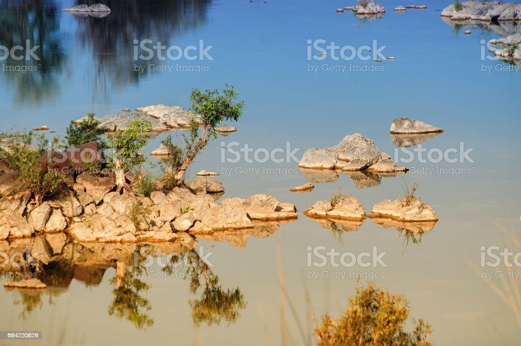 Panna river, rivebed at Panna National Park, Madhya Pradesh, India royalty-free stock photo