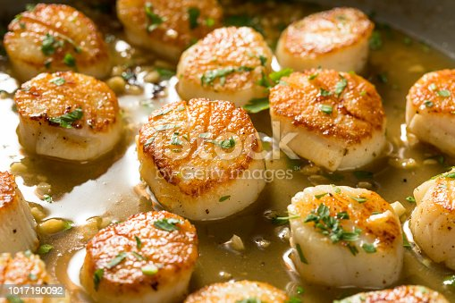 istock Panned Seared Scallops in Broth 1017190092
