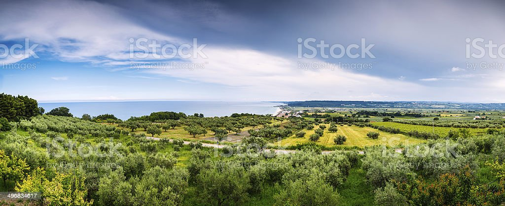 Panorama Abruzzese royalty-free stock photo