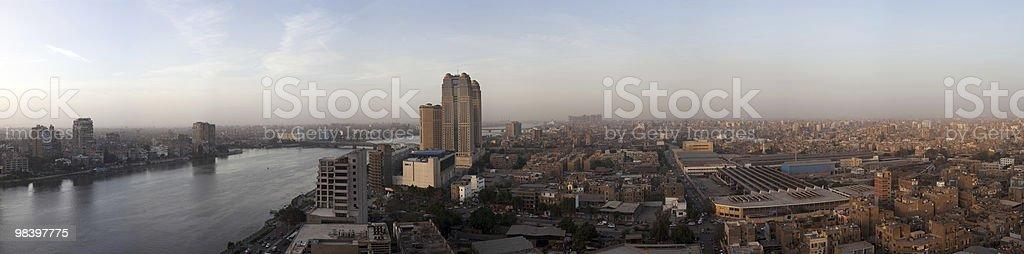 Panorama across Cairo skyline royalty-free stock photo