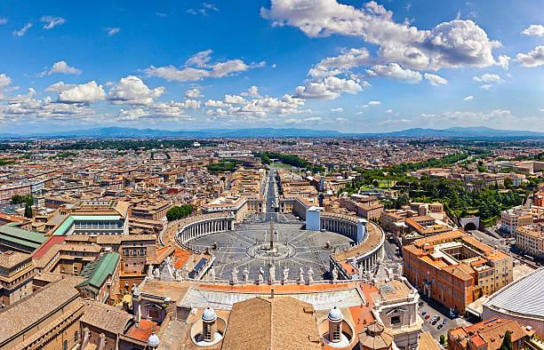 Panorama Luftbild von Rom mit St. Peter's Square – Foto