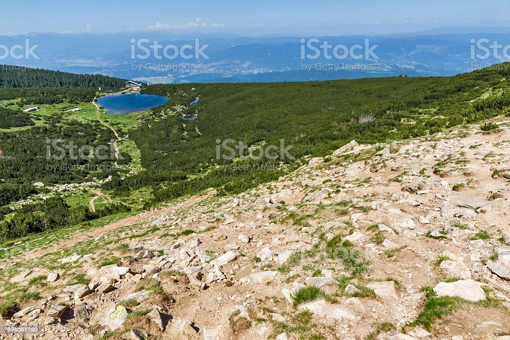 Panorama around Bezbog lake, Pirin Mountain, Bulgaria Lizenzfreies stock-foto
