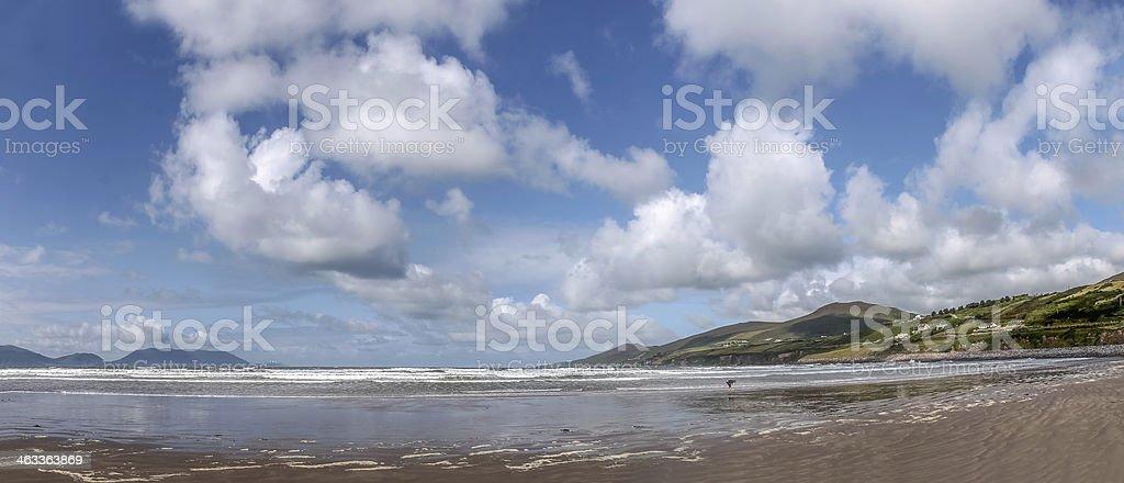 Panorama at Inch beach stock photo