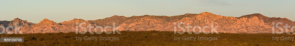 Panorama At Sunset stock photo