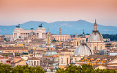 Panorama at sunset, Rome, Italy