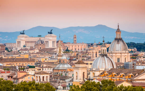 Panorama at sunset, Rome, Italy Panorama at sunset, Rome, Italy rome stock pictures, royalty-free photos & images