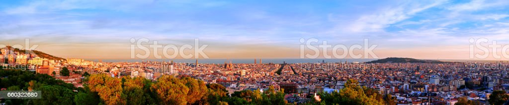 Panorama Barcelona stock photo