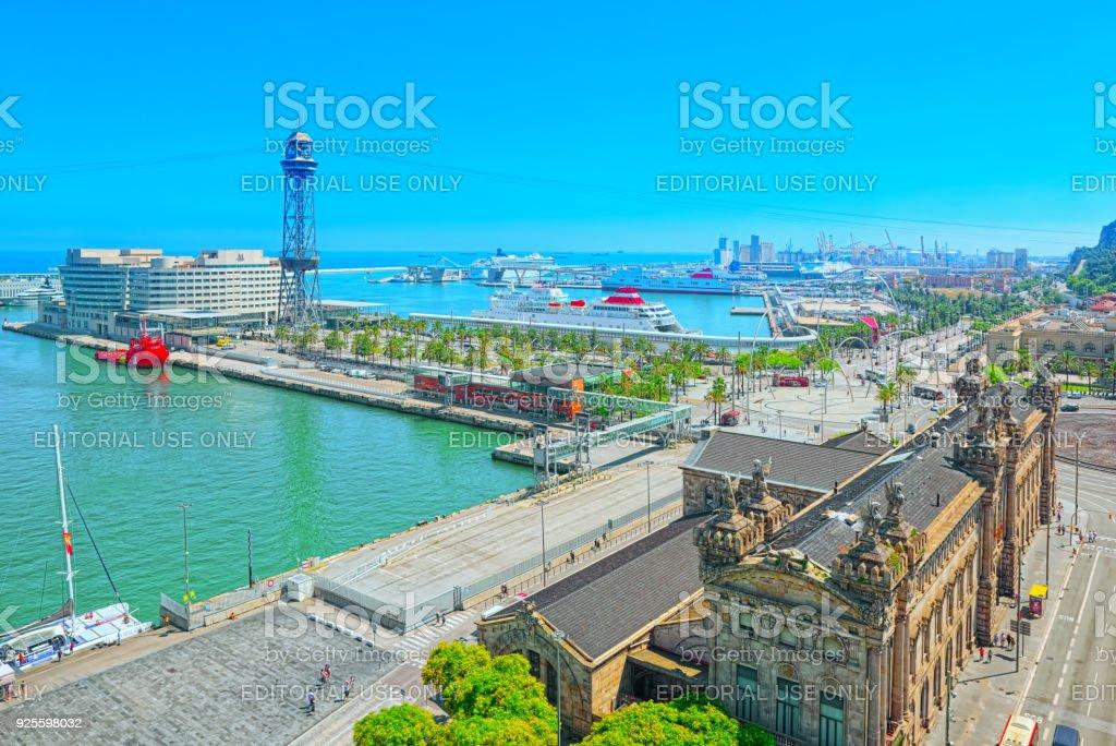 Panorama Barcelona agência de estado para a administração tributária, agência de imposto (Agencia Tributaria). - foto de acervo