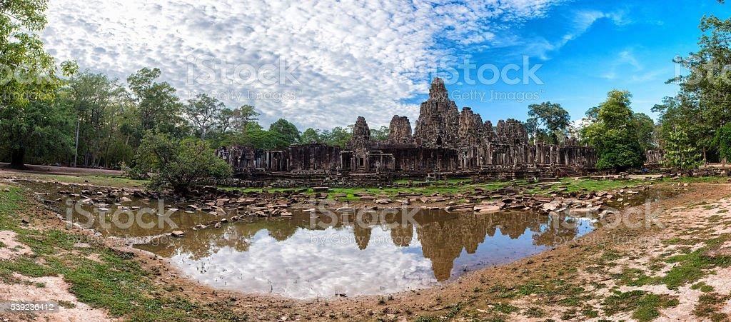 Panorama-templo de bayón foto de stock libre de derechos