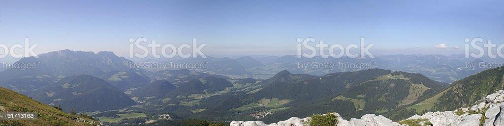 Panorama: Berchtesgadener Land, Untersberg, Salzburg, Österreich stock photo