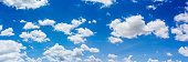 istock Panorama blue sky and clouds with daylight natural background. 1263264401