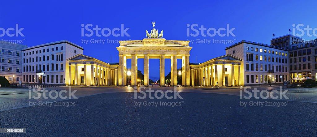 panorama-brandenburg gate – Foto