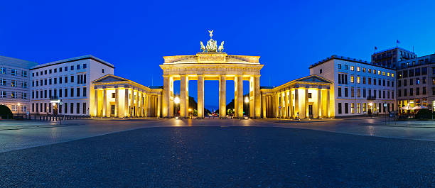 panorama-brandenburg gate – Foto