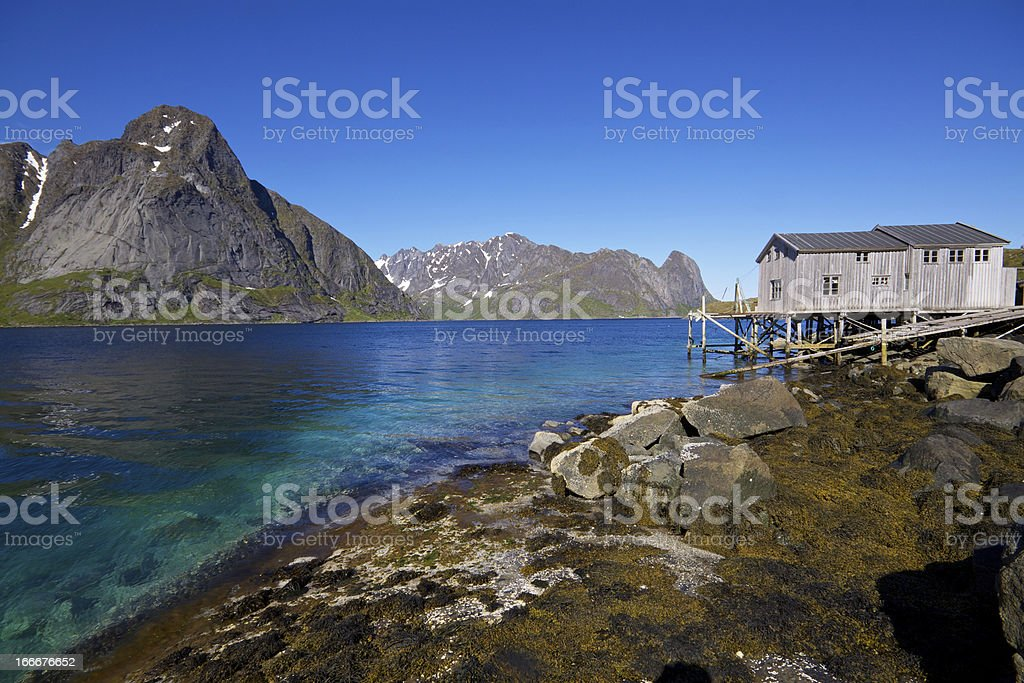 Panorama by fjord royalty-free stock photo