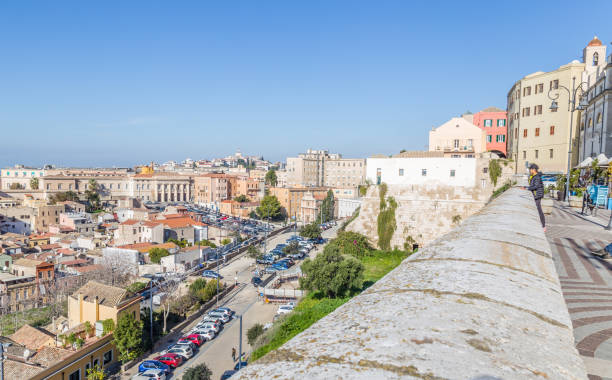 Panorama Cagliari, Sardinië eiland, Italië foto