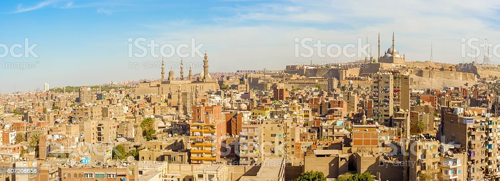 Panorama Cairo, Egypt stock photo