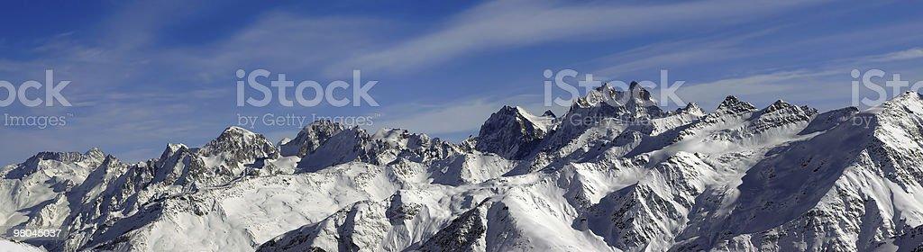 Panorama Caucasus Mountains. Elbrus Region. royalty-free stock photo