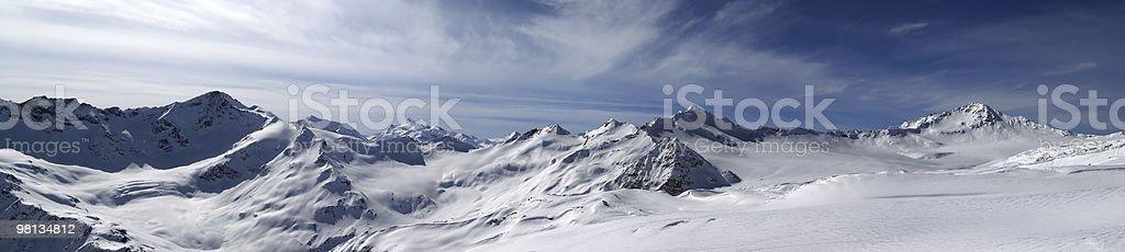 Panorama Caucasus Mountains royalty-free stock photo