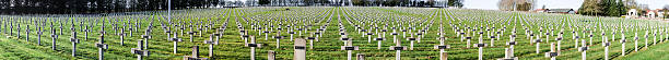 Panorama Cemetery world war one in France Vimy La Targette stock photo