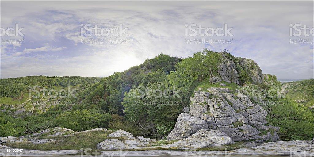 Panorama Cheddar Gorge stock photo