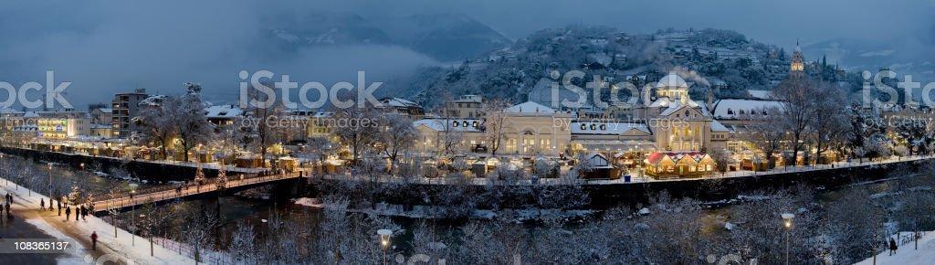 Panorama Christmas market royalty-free stock photo