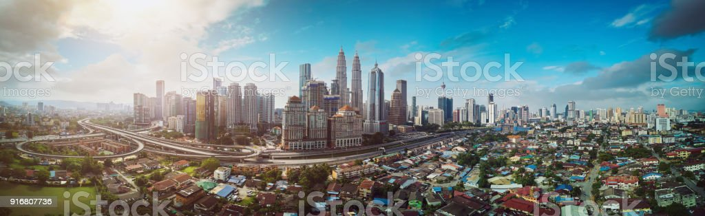 Panorama cityscape view stock photo