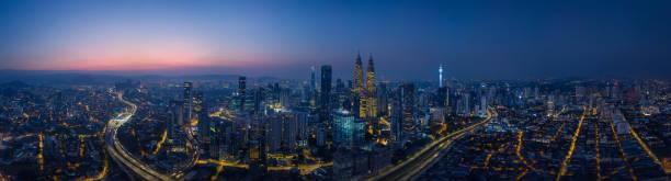 파노라마 도시 풍경 보기 - 쿠알라룸푸르 뉴스 사진 이미지