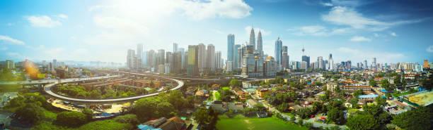 panorama op stadsgezicht - maleisië stockfoto's en -beelden