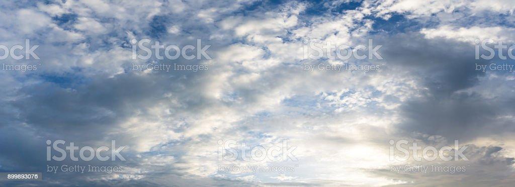 Panorama cloudy sky blackground stock photo