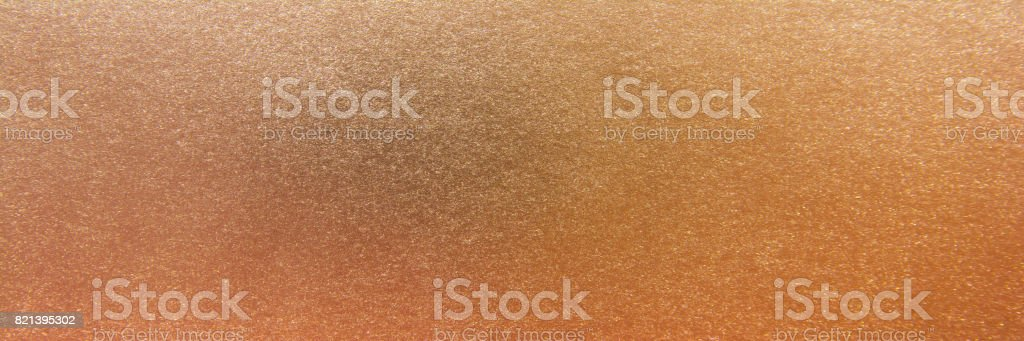 Panorama copper metallic surface background. Copper texture background stock photo
