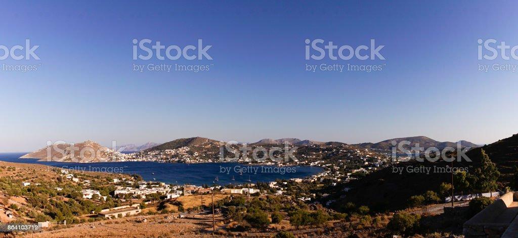 Panorama de la baie d'Alinda royalty-free stock photo