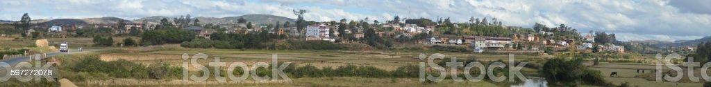 Panorama de la ville d'Ambositra Lizenzfreies stock-foto