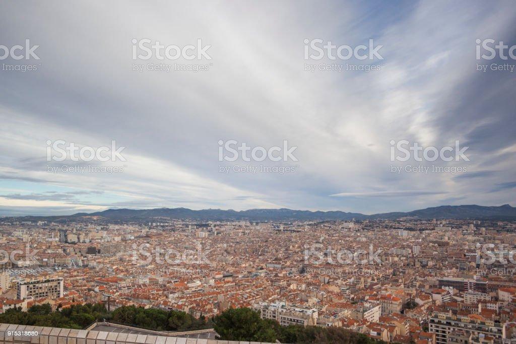 Panorama della città di Marsiglia - foto di stock immagine - foto stock