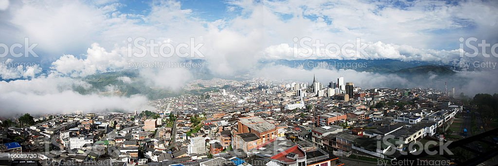 Panorama desde chipre en  Manizales. royalty-free stock photo