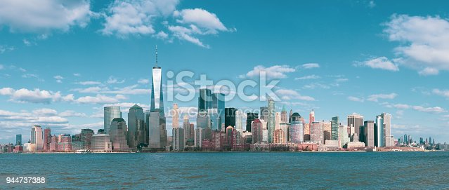 910867946 istock photo Panorama Downtown Manhattan Jersey City to New York 944737388