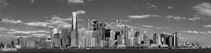 910867946 istock photo Panorama Downtown Manhattan Jersey City to New York 944737410